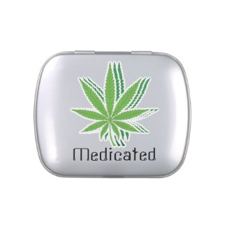 Pot Leaf Faded Medicated Jelly Belly Tins