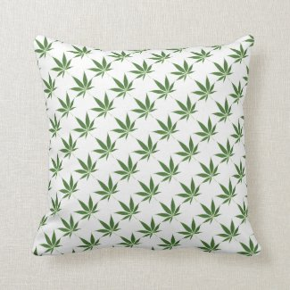 Pot Leaf Pattern Decorative Throw Pillow