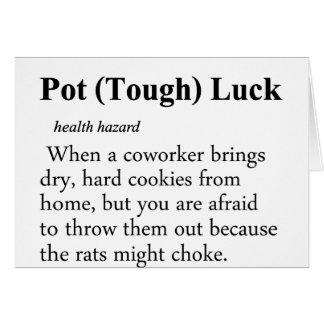 Pot Luck Definition Card