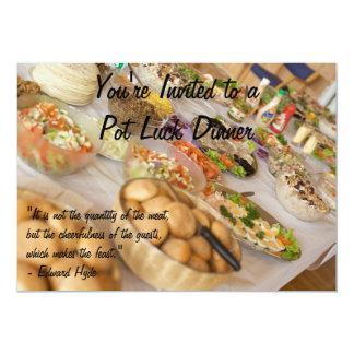 Pot Luck Dinner Card