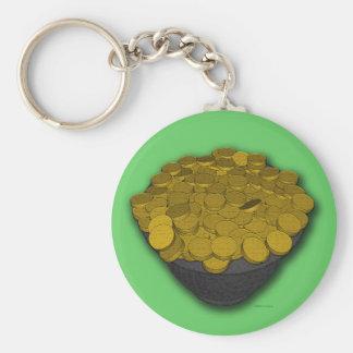 Pot O' Gold Basic Round Button Keychain