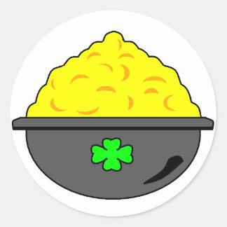 Pot O Gold Classic Round Sticker
