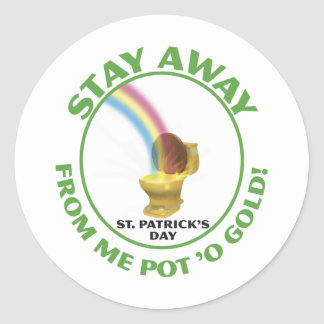 Pot 'o Gold Classic Round Sticker
