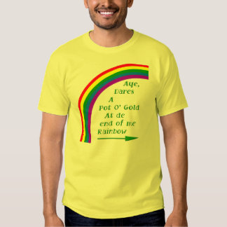 Pot O gold FRONT AND BACK designs each Shirt