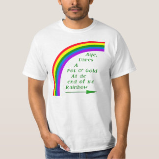 Pot O gold FRONT AND BACK designs each T-shirt