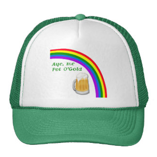 Pot O gold FRONT AND BACK designs each Trucker Hat