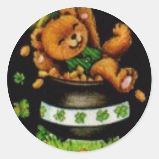 Pot of Bear Classic Round Sticker