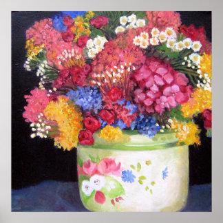 Pot of Flowers Print