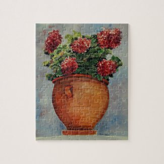 Pot of Geraniums jigsaw puzzle