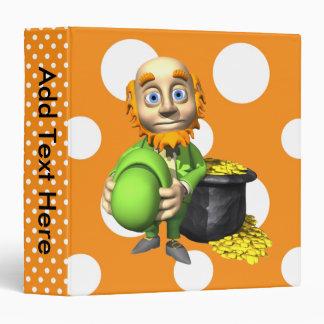 Pot Of Gold And Leprechaun Vinyl Binders