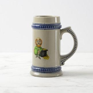 Pot Of Gold And Leprechaun Coffee Mug