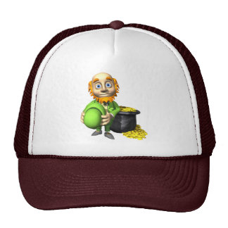 Pot Of Gold And Leprechaun Mesh Hats
