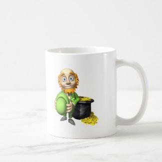Pot Of Gold And Leprechaun Mug