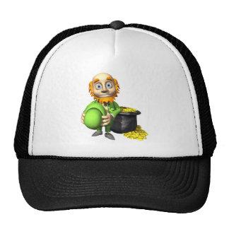 Pot Of Gold And Leprechaun Trucker Hat