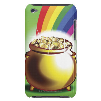 Pot of gold and rainbow barely there iPod cover