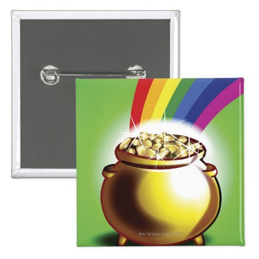 Pot of gold and rainbow buttons