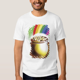 Pot of gold and rainbow t shirts