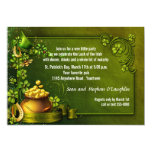 """Pot of Gold and Shamrocks St Patty's Party Invite 5"""" X 7"""" Invitation Card"""