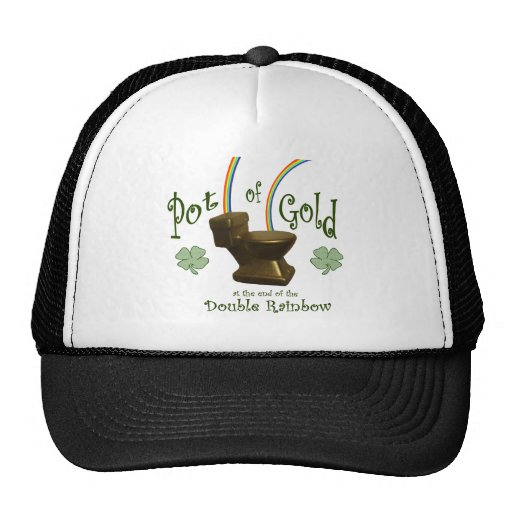 Pot of Gold at the end of the Double Rainbow Mesh Hat