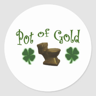 Pot of Gold Classic Round Sticker