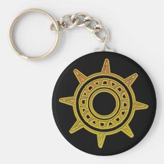 Pot of Gold Compass Basic Round Button Keychain