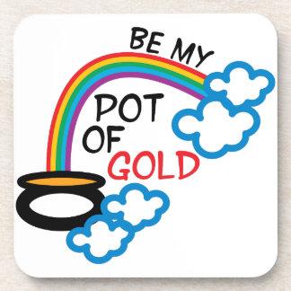 Pot Of Gold Beverage Coaster