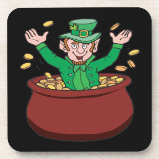 Pot Of Gold Beverage Coasters