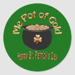 Pot of Gold for Saint Patrick's Day Classic Round Sticker