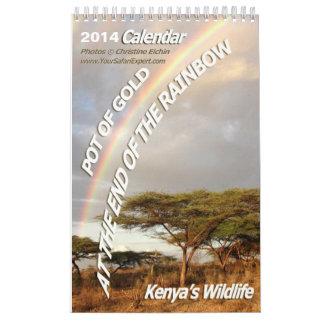 POT OF GOLD Kenya's Wildlife Calendar 2014 (1-Page