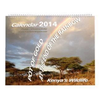 POT OF GOLD Kenya's Wildlife Calendar 2014 (2-Pg.)