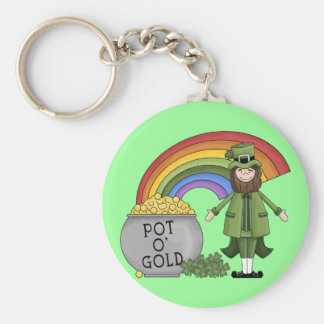 Pot of Gold Leprechaun Keychain