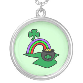 Pot of Gold Round Pendant Necklace
