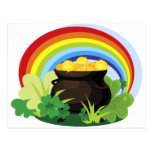 Pot Of Gold St. Patrick's Day Gift Postcard