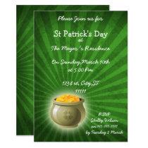 Pot Of Gold St Patricks Day party Invitation