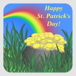 Pot of Gold | St. Patrick's Day | Personalized Square Sticker