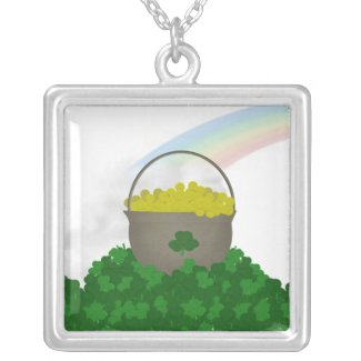 Pot of Gold St.Pattys Necklace necklace
