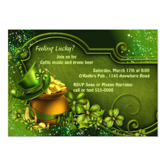 Pot of Gold St. Patty's Party Invitation