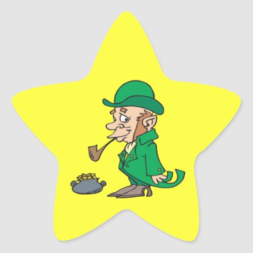 Pot Of Gold Star Stickers