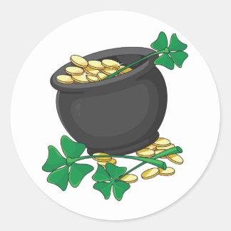 Pot of Gold Stickers Round Sticker