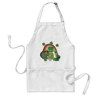Pot of Gold with Frog Tshirts and Gifts Adult Apron