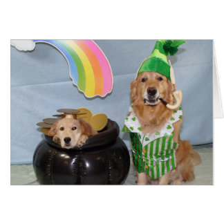 Pot of Golden for St. Patrick's Day Greeting Card