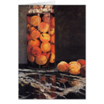Pot of Peaches by Claude Monet Greeting Card