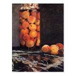 Pot of Peaches by Claude Monet Postcard
