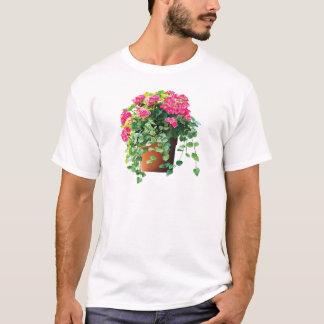 Pot of Pink Geraniums Mens T-Shirt