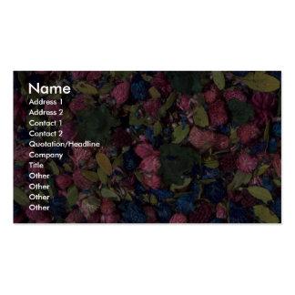 Pot-pourri texture business card template
