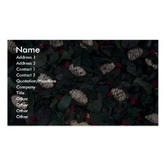Pot-pourri texture business card