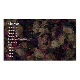 Pot-pourri texture business card templates