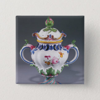 Pot-pourri Vase, made in Strasbourg, c.1754-60 Pinback Button