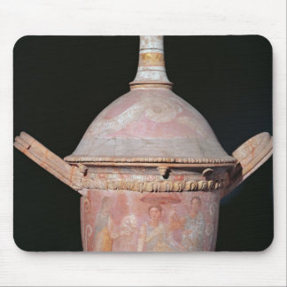Pot with a scene of women bathing mouse pad