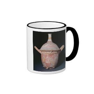 Pot with a scene of women bathing coffee mug